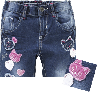 Kinder Jeans mit Badges