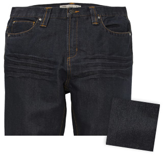 Dark Blue Washed Herren Jeans