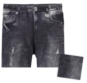Grey Black Washed Kinder Jeans